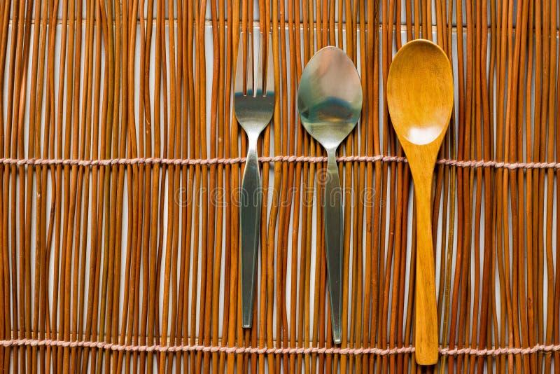 Hoogste mening van vaatwerk voor het eten royalty-vrije stock afbeelding
