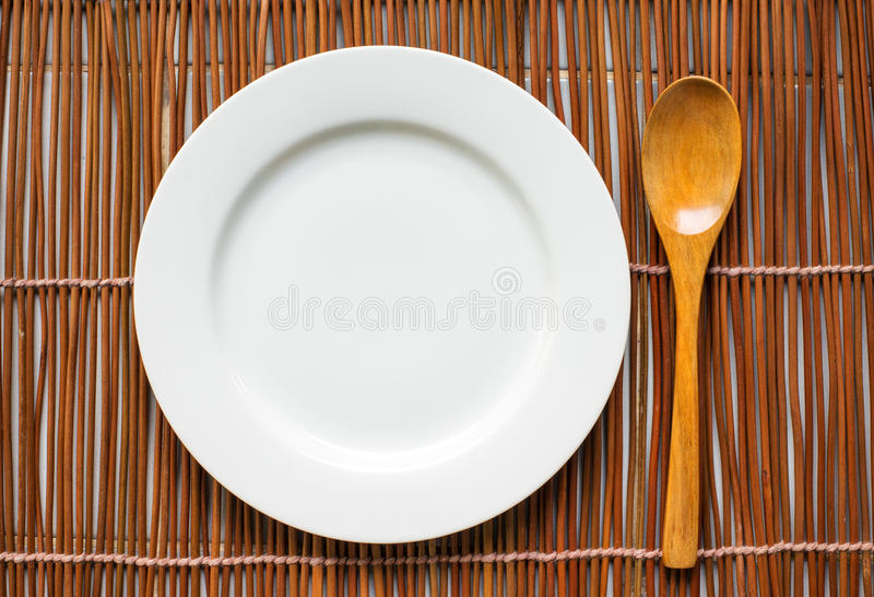 Hoogste mening van vaatwerk voor het eten stock afbeelding