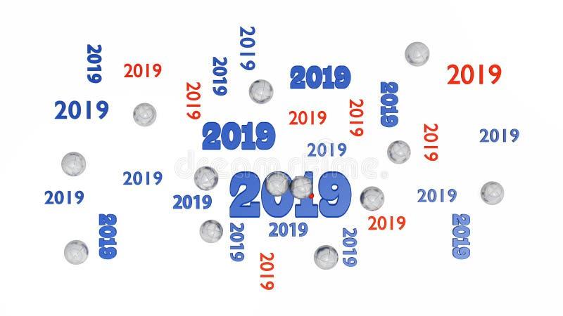 Hoogste Mening van Verscheidene Petanque 2019 Ontwerpen met Sommige Ballen vector illustratie