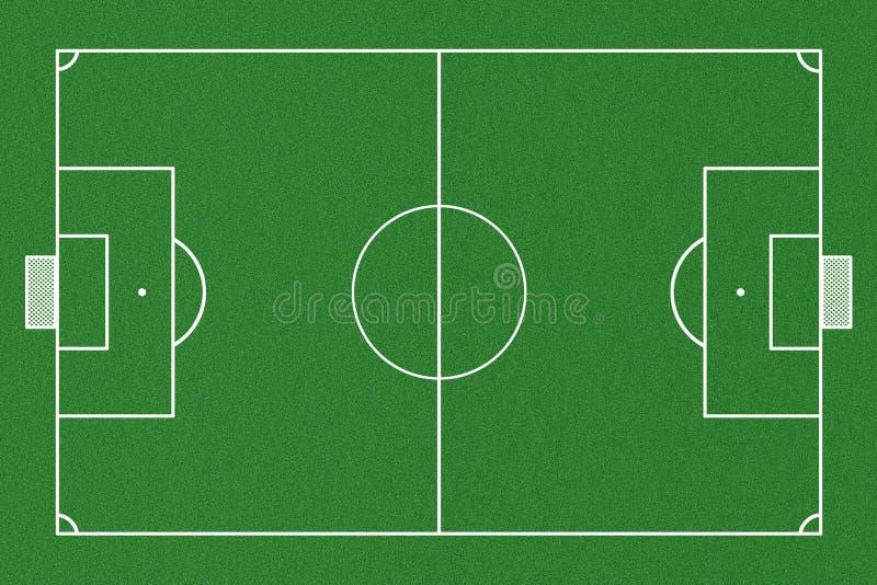 Hoogste mening van voetbalgebied royalty-vrije illustratie