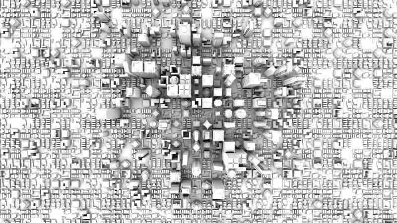 hoogste mening van witte stad vector illustratie