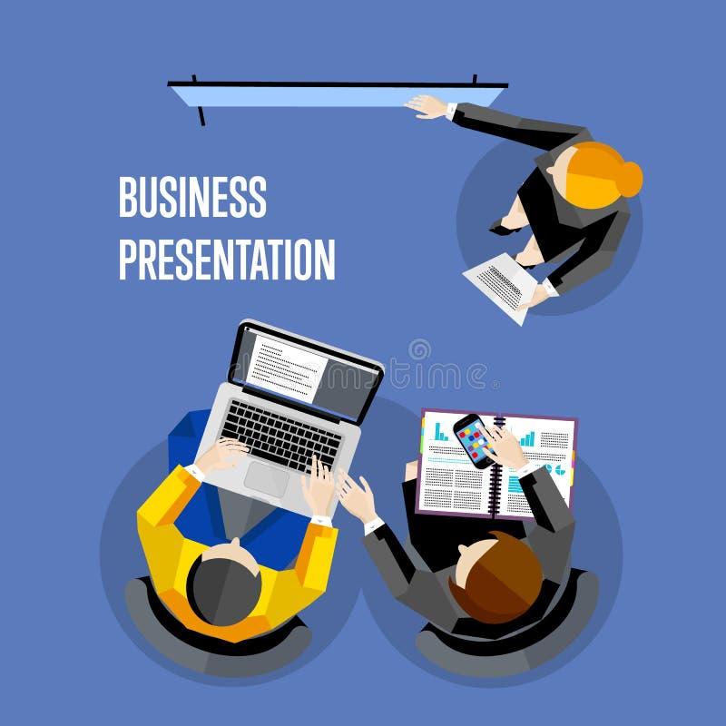Hoogste menings bedrijfspresentatiebanner vector illustratie