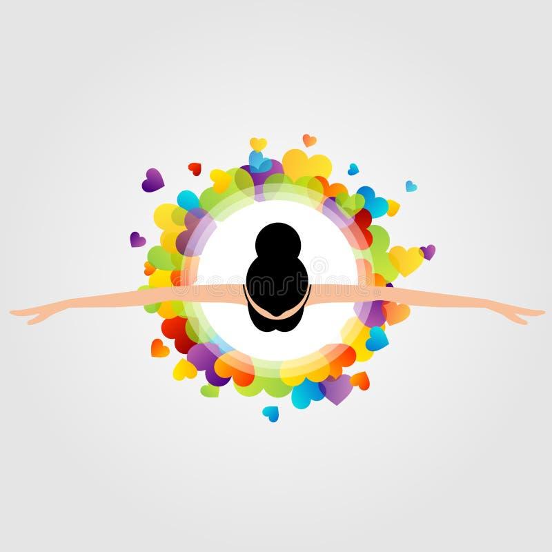 Hoogste menings dansende ballerina vector illustratie