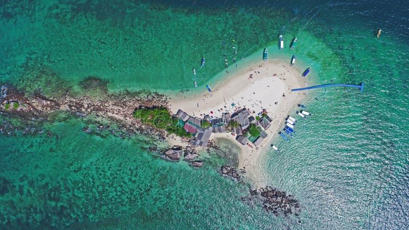 Hoogste Menings Tropisch Eiland, Luchtmening van Koh Khai Island stock afbeelding