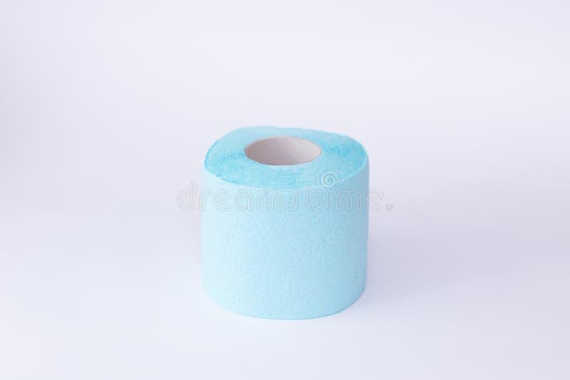 Hoogste meningsbroodje van toiletpapier op witte achtergrond stock foto