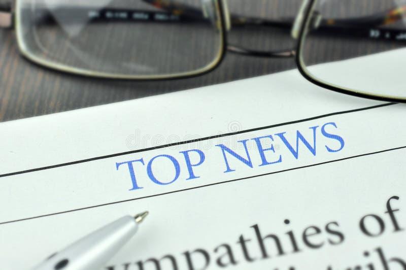 Hoogste Nieuws Het concept van het nieuws royalty-vrije stock foto's