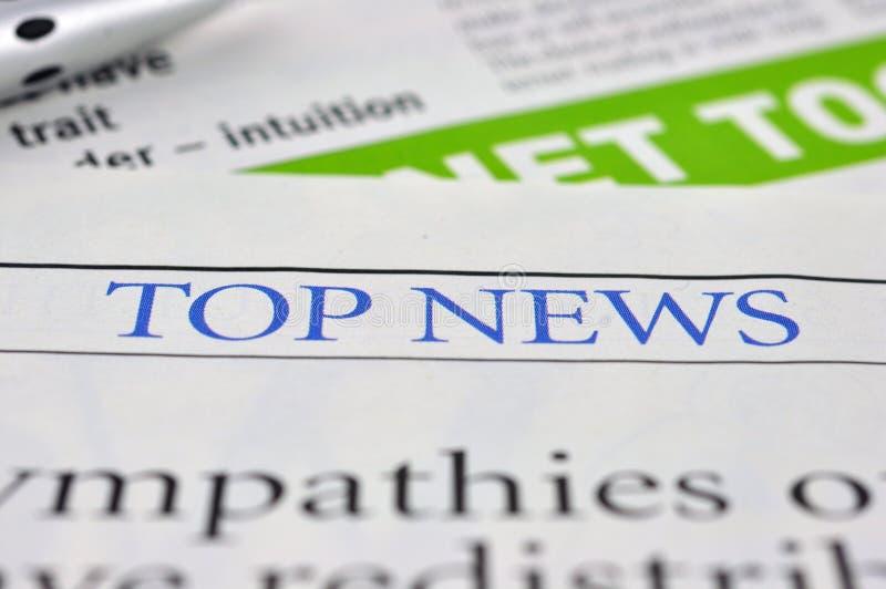 Hoogste Nieuws Het concept van het nieuws royalty-vrije stock foto