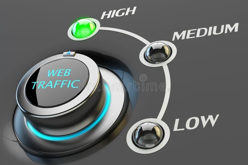 Hoogste niveau van het concept van het Webverkeer stock illustratie