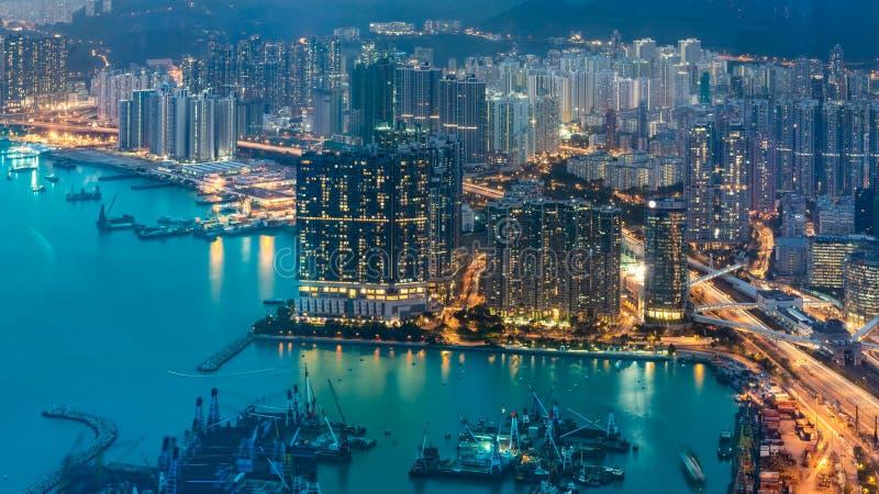 Hoogste Weergeven van Haven in Hong Kong royalty-vrije stock foto