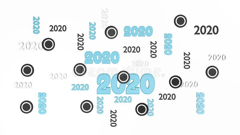 Hoogste Weergeven van Verscheidene Ijshockey 2020 Ontwerpen met Sommige Pucks stock illustratie