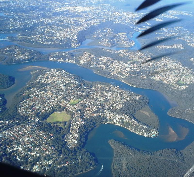 Hoogte boven de wolken luchtmening royalty-vrije stock fotografie