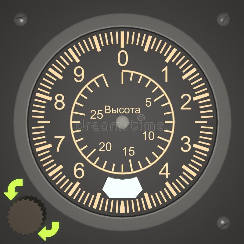 Hoogtemeter - een apparaat wordt ontworpen om hoogte te meten die stock illustratie