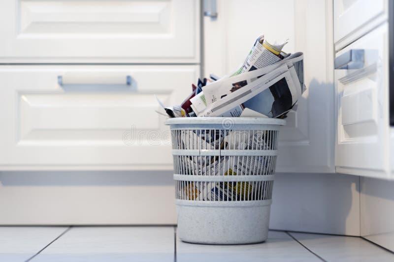 Hoogtepunt van afval stock afbeeldingen