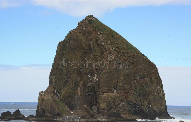 Hooibergrots bij Kanonstrand Oregon stock fotografie