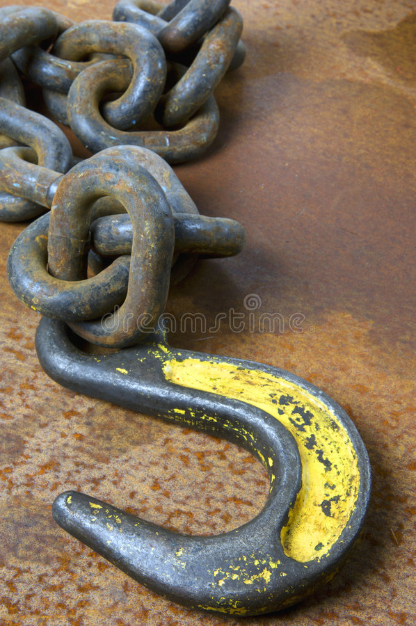 Hook and chain still-life royalty free stock photos