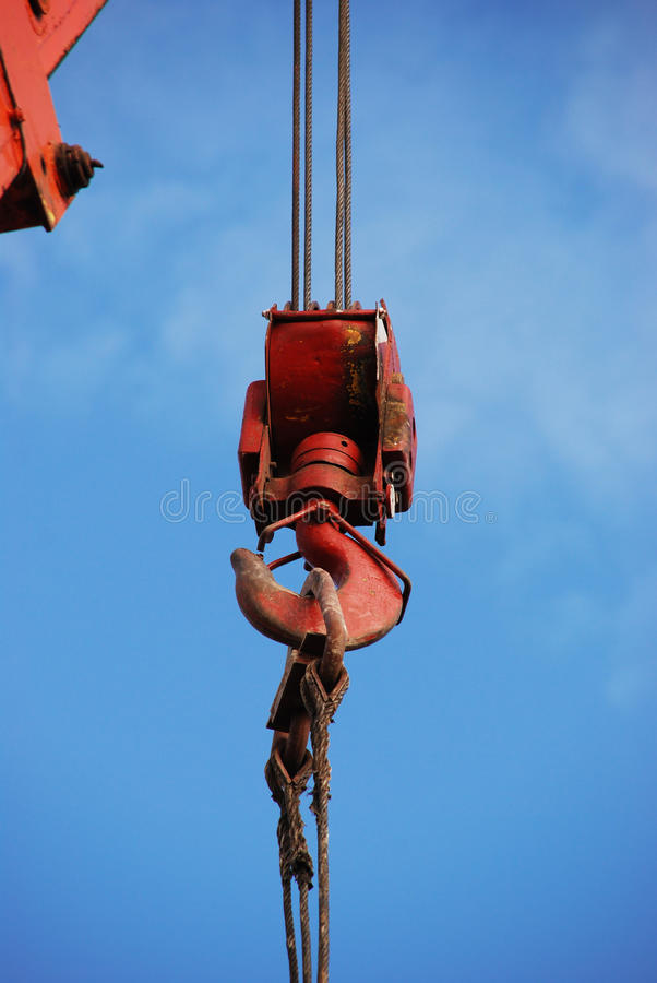 Hook of the crane royalty free stock image