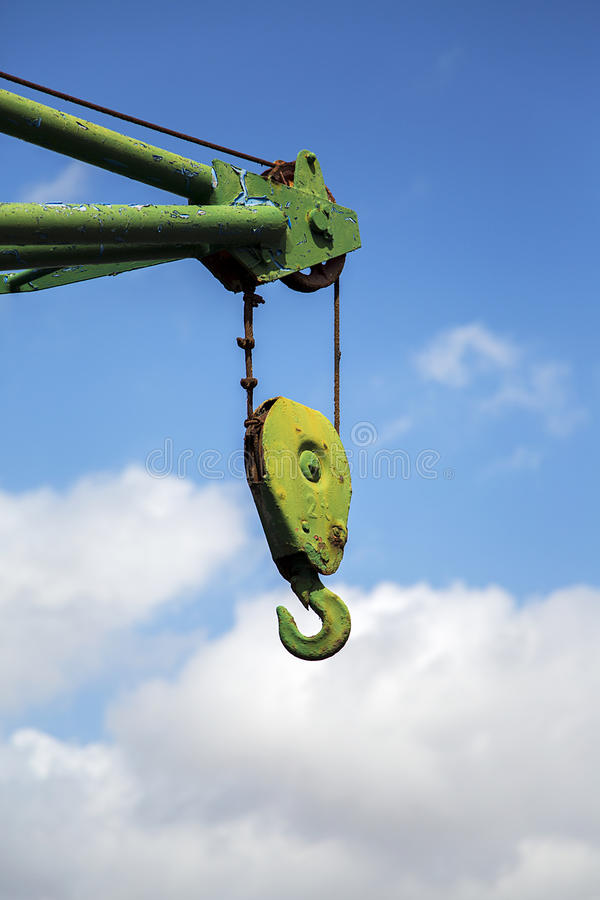 Hook of the crane royalty free stock photos