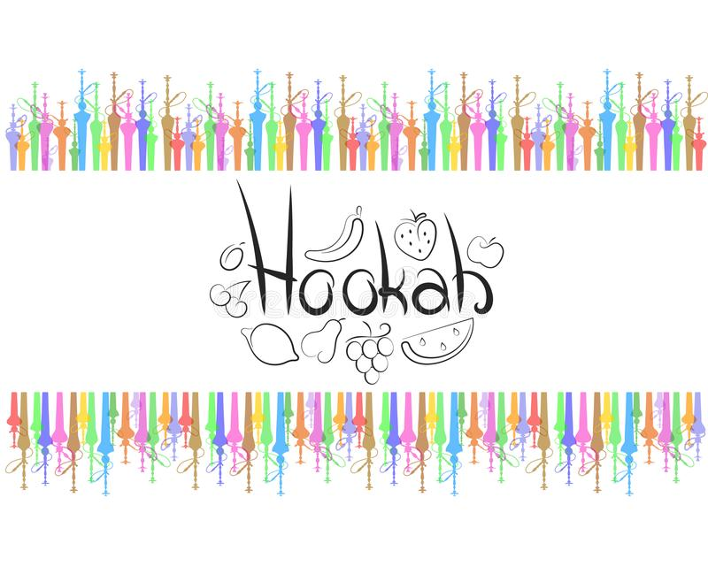 Hookah abstract vector vector illustration