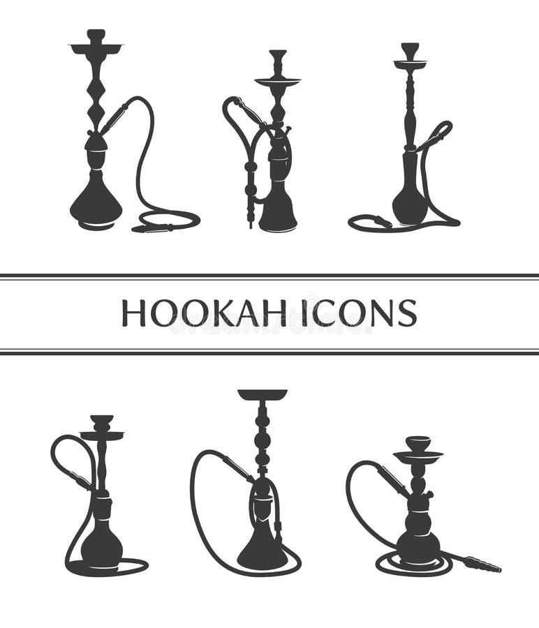 Free Hookah Icons Royalty Free Stock Photo - 52008895