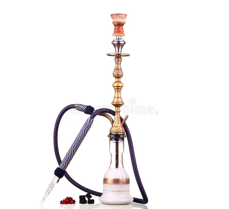 Hookah isolated on a white background. royalty free stock photo