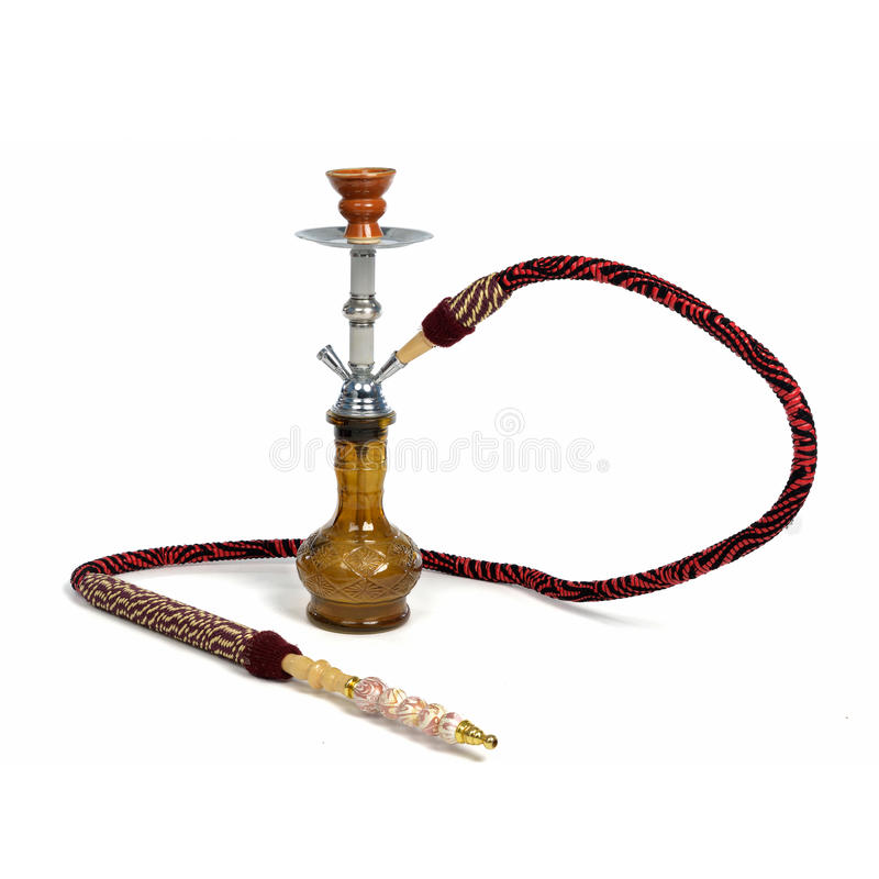 hookah isolerad red royaltyfria bilder