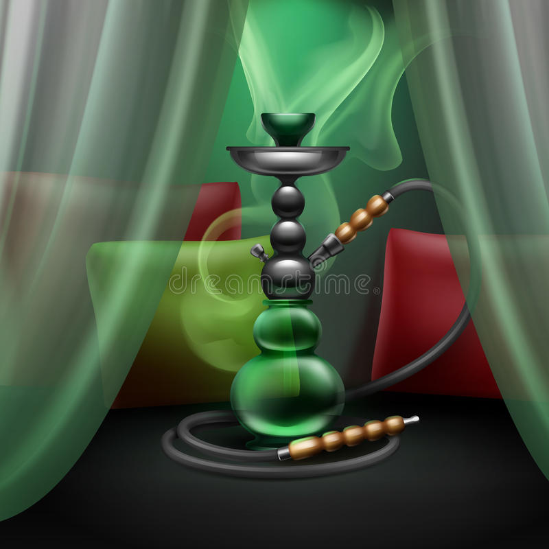 Hookah lounge interior royalty free illustration