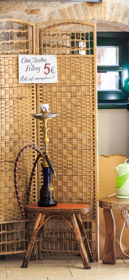 A Hookah Pipe. In a Smoking Shop in Kotor royalty free stock image