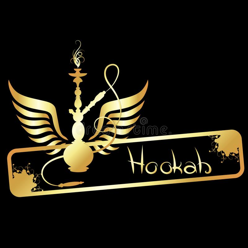Hookah vector golden stock illustration