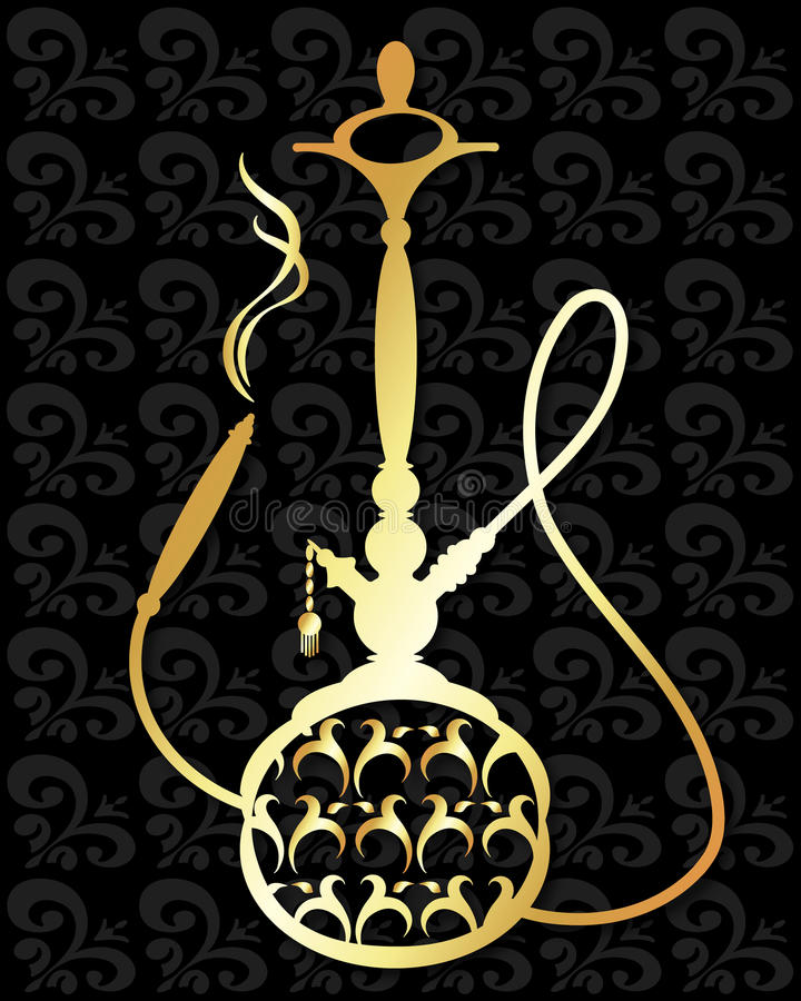 Hookah vector silhouette stock illustration