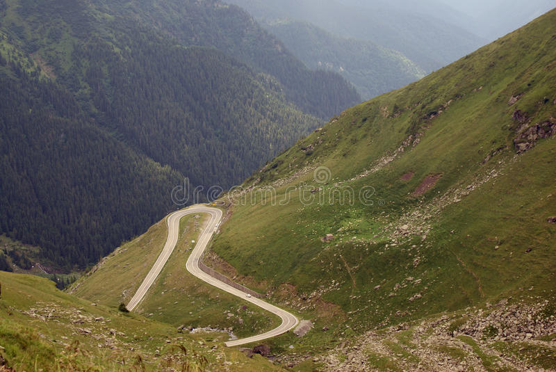 Hooked road at high altitude stock image