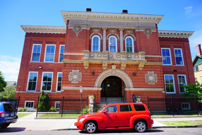 Hooker-Schule in New-Haven lizenzfreie stockbilder