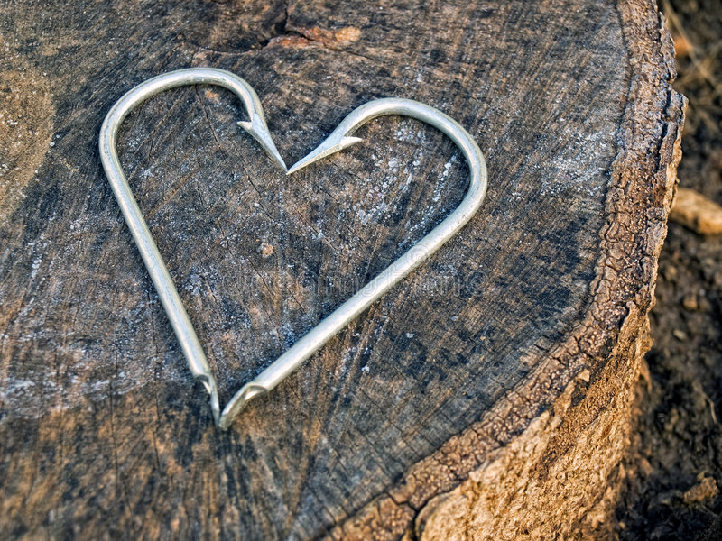 Hooks Heart Royalty Free Stock Images