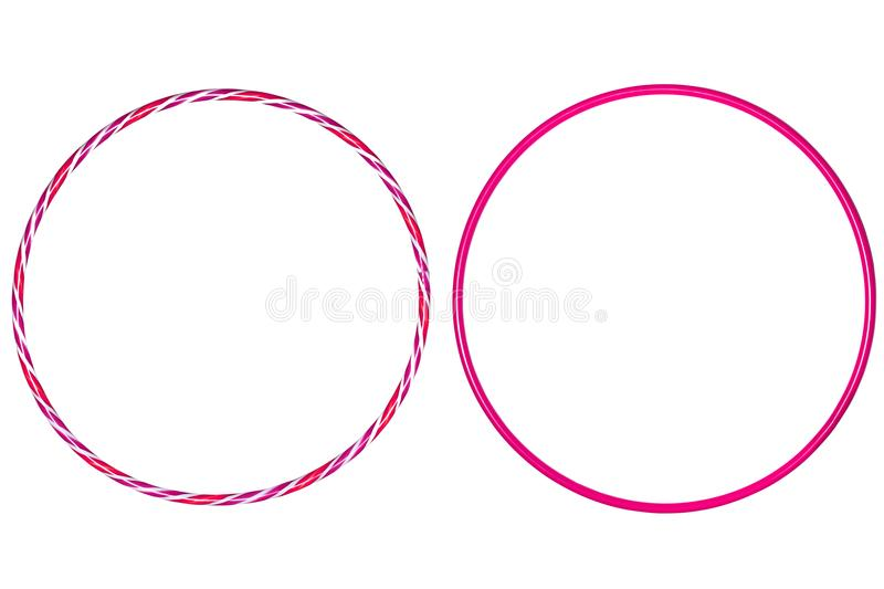 The hula Hoop pink on white background. Hoola hoop hula hula-hoop hulahoop background dance dedication diet equipment exercise figure fitness fun gymnast stock images
