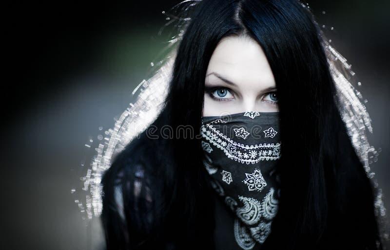 Hooligan da mulher nova fotografia de stock royalty free