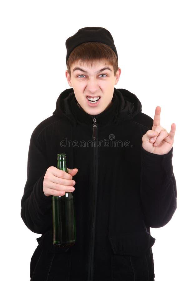 Hooligan met een Bier stock foto's
