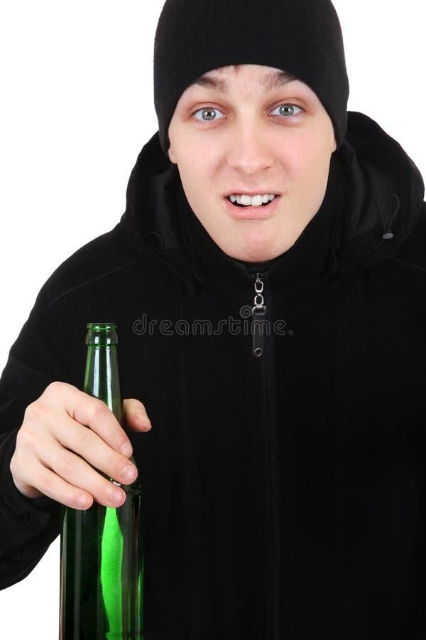 Hooligan met een Bier stock fotografie