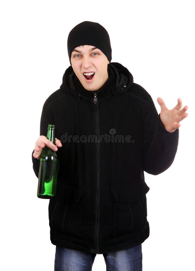 Hooligan met een Bier royalty-vrije stock foto