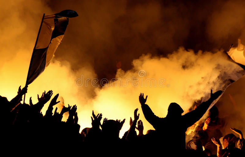 Hooligans stockfoto