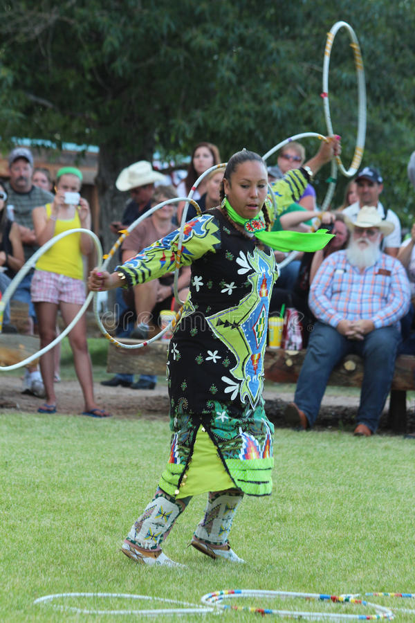 Hoop Dance - Powwow 2013 royalty free stock image