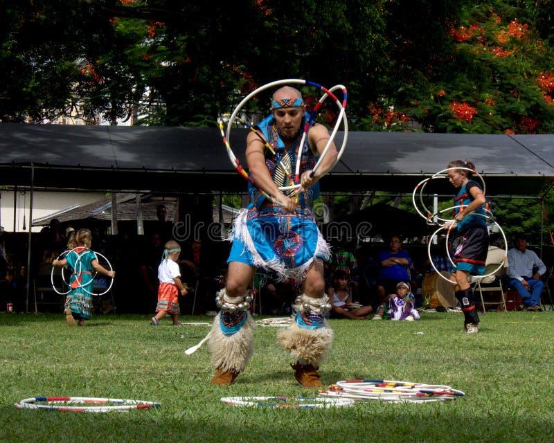 Hoop dancers royalty free stock image