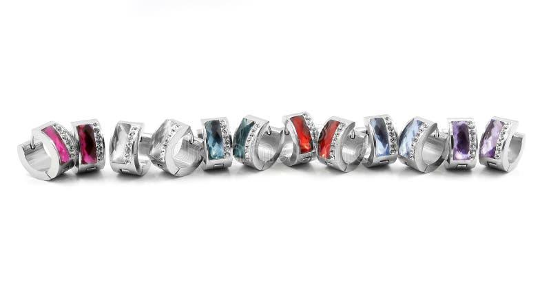 Hoop earrings, surgical stainless steel stock photos