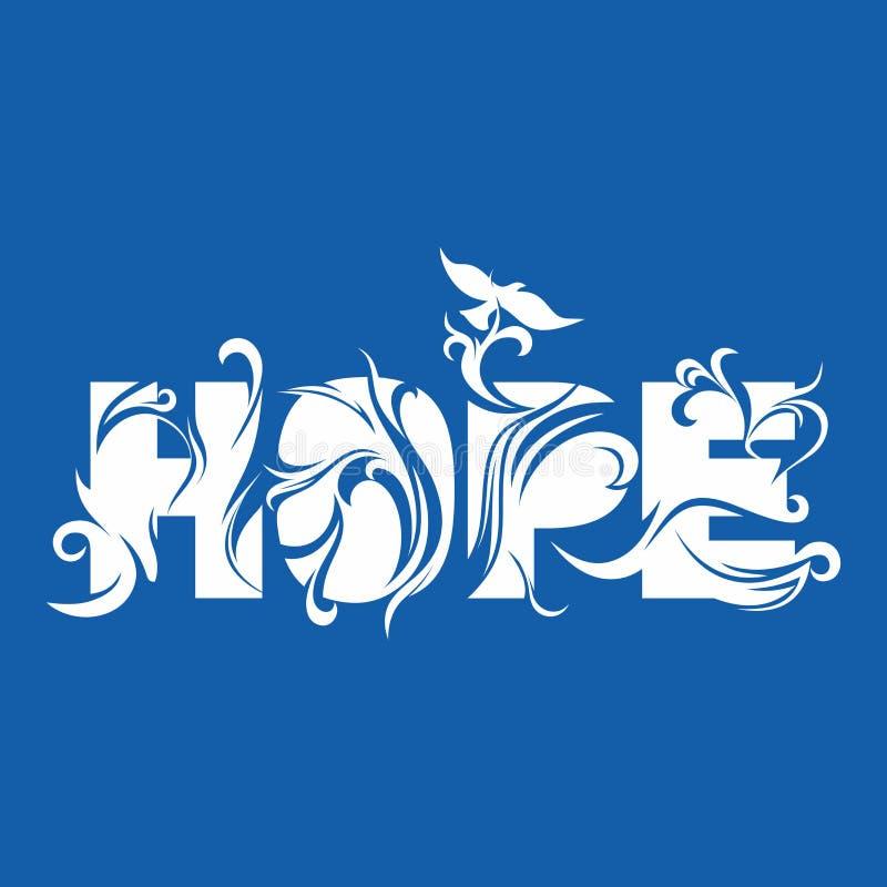 Hoop en duif, Heilige Geest Christelijke illustratie vector illustratie