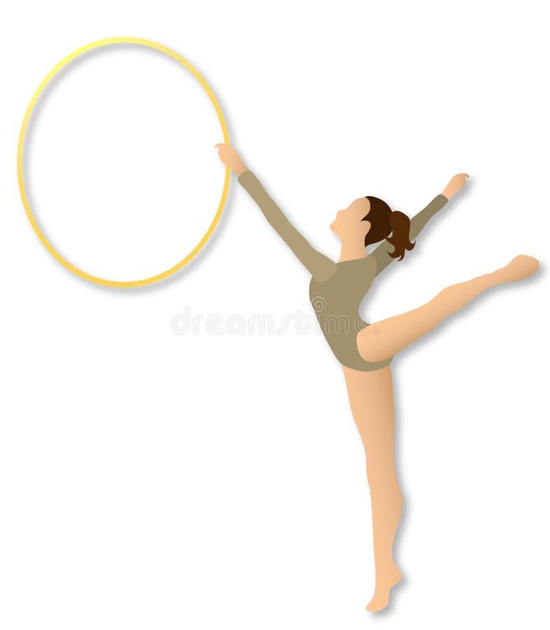hoop gimnastyka rytmiczne ilustracja wektor
