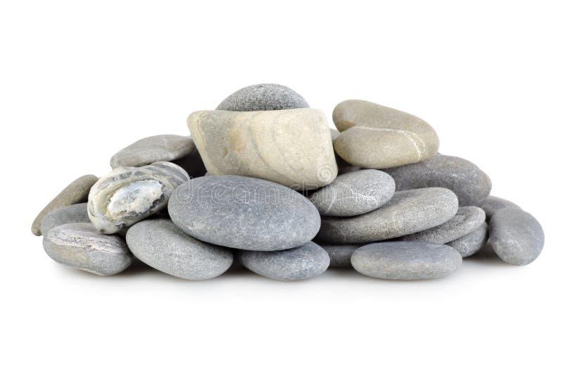 Hoop grijze stenen op stock foto's