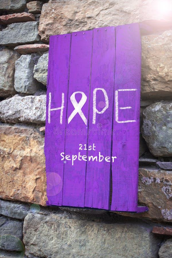 Hoop, 21 September Dag van Alzheimer ` s royalty-vrije stock fotografie