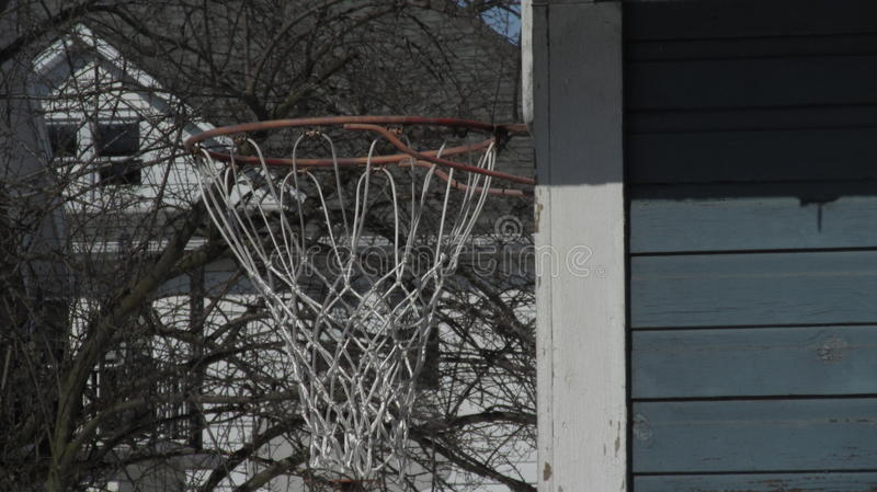 Hoop from the side stock image