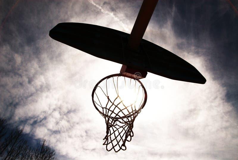hoop sylwetkowy koszykówki zdjęcie stock
