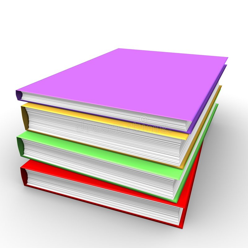 Hoop van boeken stock foto