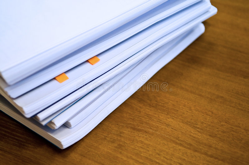 Hoop van documenten stock afbeeldingen