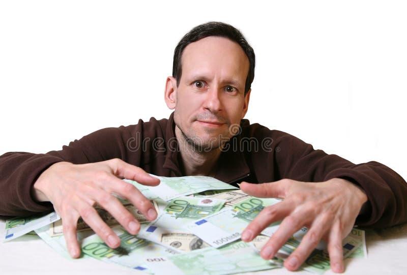 Hoop van geld stock foto